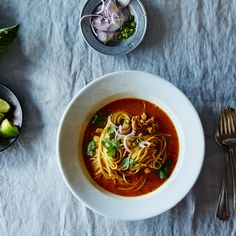 A Classic Chicken Noodle Soup, with a South Asian Twist