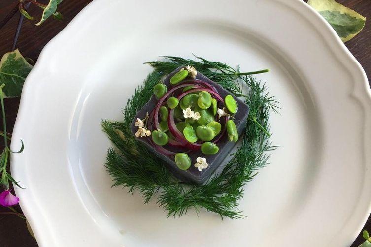 Fava Meze with Purple Carrots