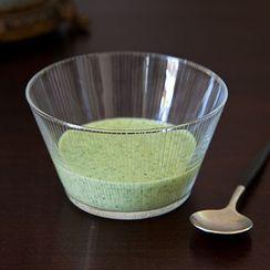 Raw Blood Orange Cucumber Composed Salad w/ Bulgarian Feta, Pine Nut & Mint Pesto