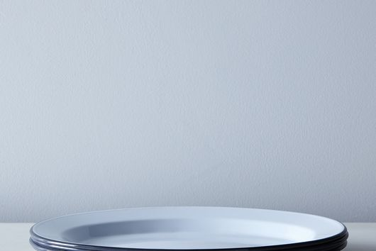 White & Grey Enamel Dinnerware