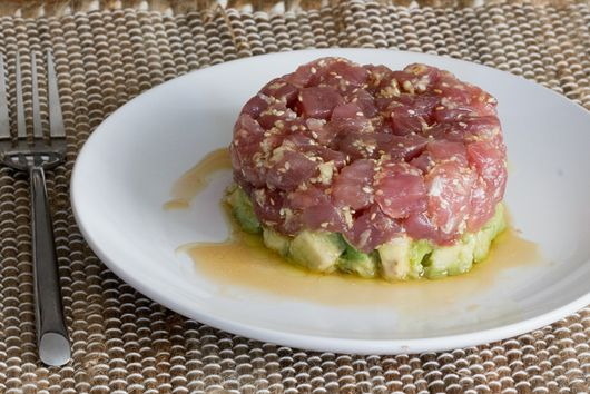Tuna Tartare with Avocado & Sweet Asian Sauce