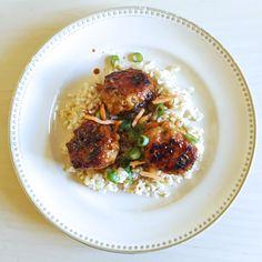 Soy-Glazed Miso Chicken Meatballs