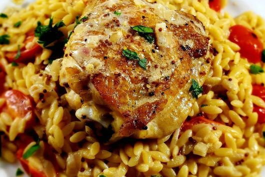 Mom's Chicken Orzo Redux