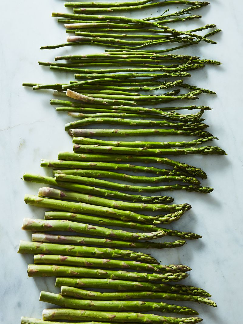 The asparagus come marching in.