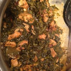 Chicken with Spinach and Prunes Iranian Style