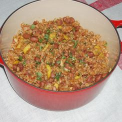Pueblo Bean and Rice Casserole