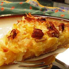 Pineapple Pecan Pie with Coconut