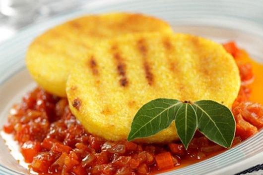 Grilled Polenta with Spicy Cannelloni Beans
