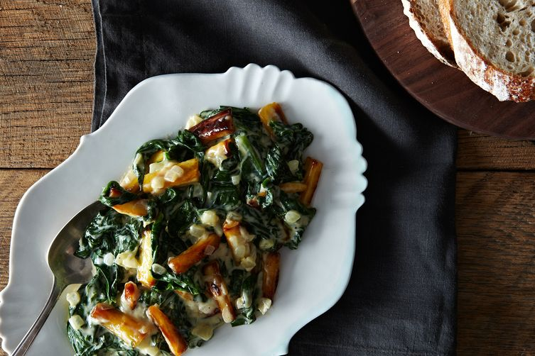Creamed Spinach and Parsnips