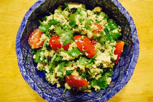 Japanese Tabbouleh with Cilantro & Tofu