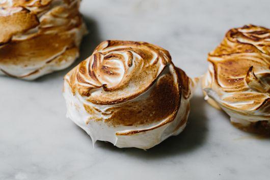 Individual Baked Alaskas with Honeycomb Ice Cream & Brown Sugar Pound Cake