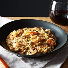 Shrimp and Grits Style Risotto