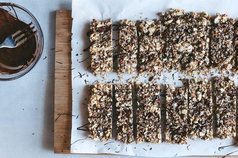 Salted Dark Chocolate Nut Bars