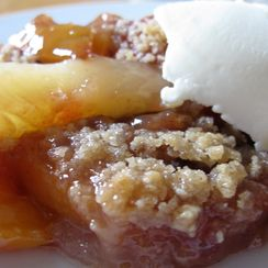 Peach and Cardamon Crisp