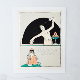 Vintage Menu Print: Fountain Room