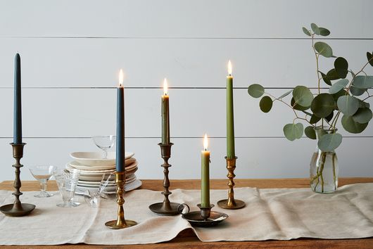 4 Ways to Decorate with Colored Tapered Candles This Spring