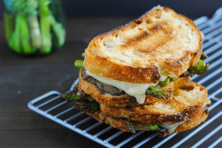 Mushroom Duxelles & Asparagus Grilled Cheese Recipe on Food52