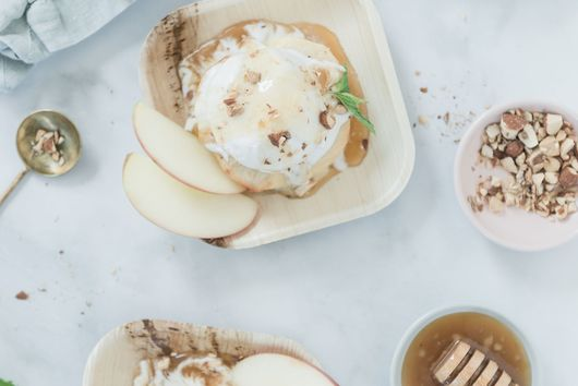 Baked Apple and Miso Honey Sundae