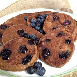 Breakfast for Dinner: Almond Flour, Blueberry Pancakes