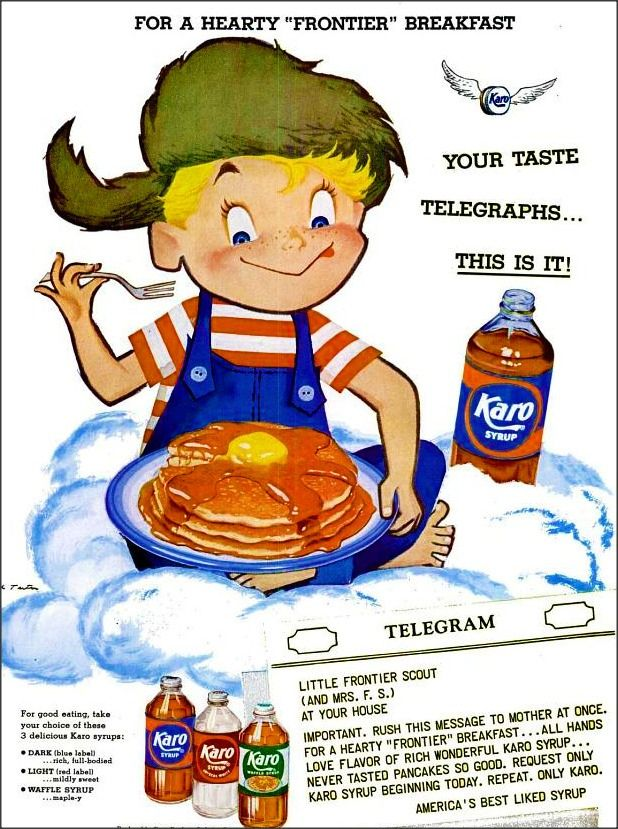 A Karo Syrup ad from 1955.