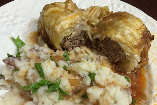 German Kohlrouladen (Stuffed Cabbage Rolls)