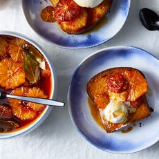 Brioche and Caramelized Citrus Sundae