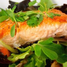 Crispy Sesame Salmon Salad with Fried Capers