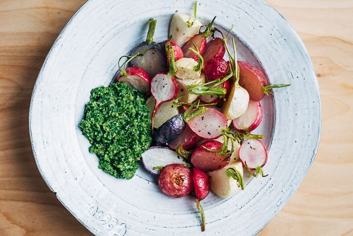 Radish turnip salad