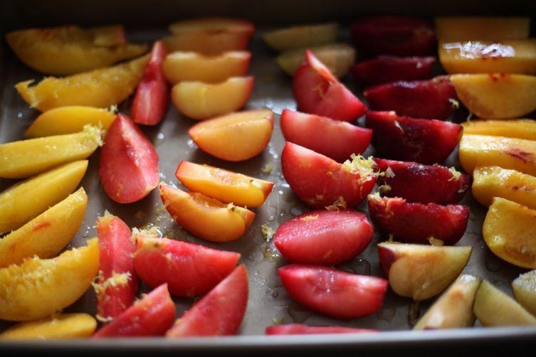 Roasted Fruit Panzanella