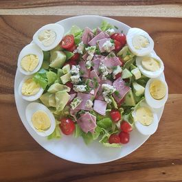 Sliced Ham Cobb Salad