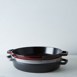 "Staub Cast Iron Double Handle Fry Pan, 13"""