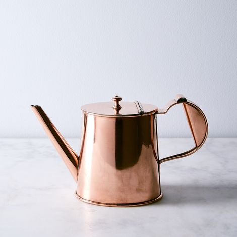 Vintage Copper English Teapot, Mid 19th Century