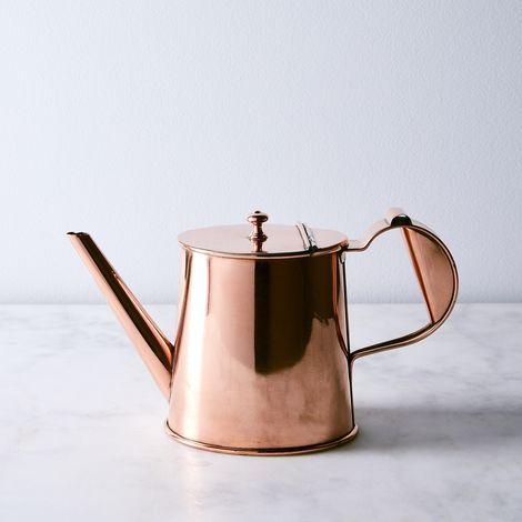 Vintage Copper English Teapot, Mid 19th Century