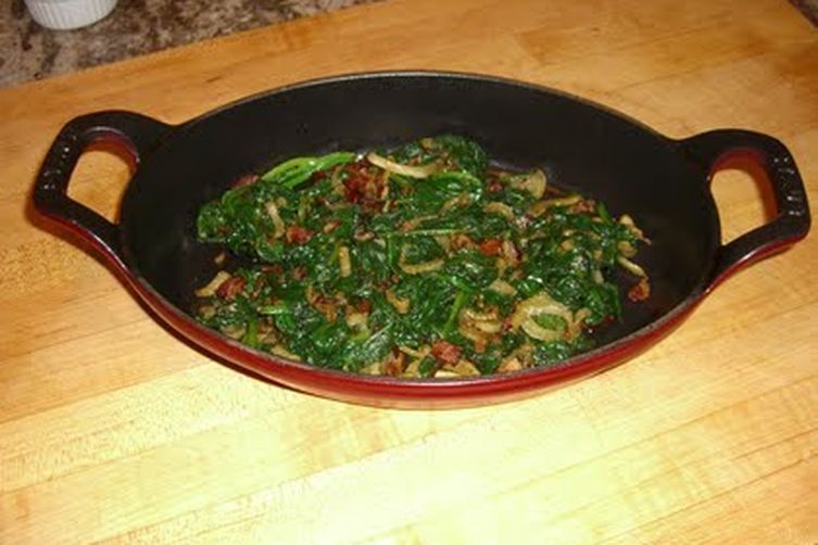 Spinach with Fennel and Bacon