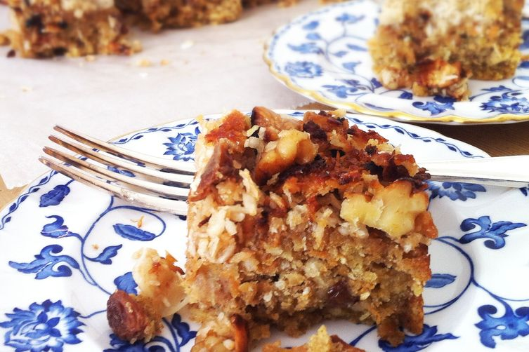 Ugly Duckling Carrot and OatmealCake topped with Coconut Caramel
