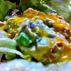 Mango Chicken Salad Lettuce Wraps