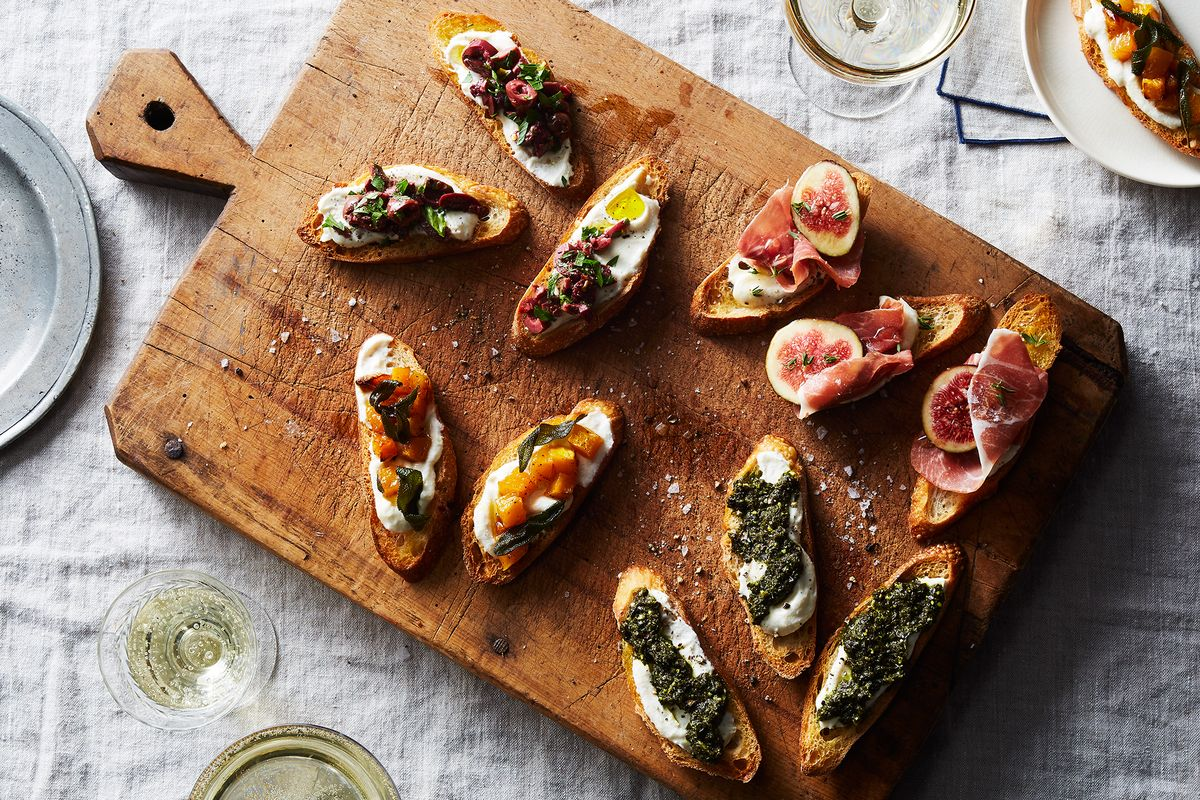 Food52 food community recipes kitchen home products and up your crostini game with spicy olives kale pesto and more forumfinder Choice Image