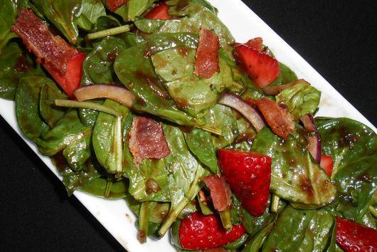 Strawberry Basil Spinach Salad