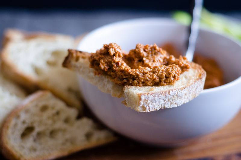 Muhammara (Roasted Red Pepper & Walnut Dip)