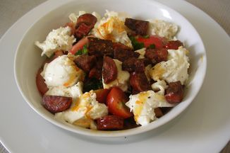 84164954 f579 4db7 8807 be066c24c03d  tomato chorizo and mozzarella salad