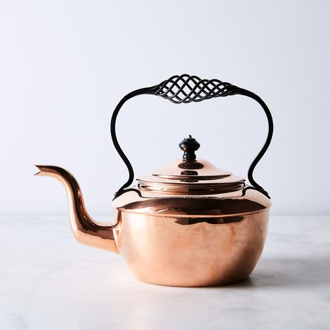 Vintage Copper English Henry Loveridge Tea Kettle, Late 19th Century