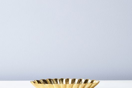 Food52 Scalloped Brass Bowl