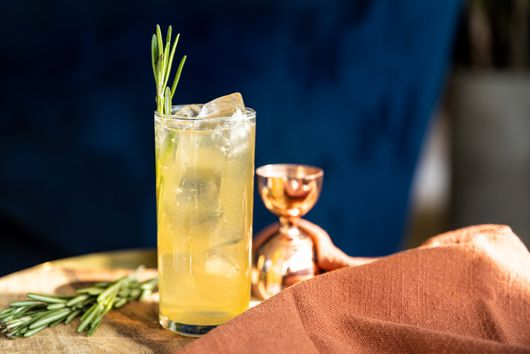 Spiced Pear Bourbon Collins