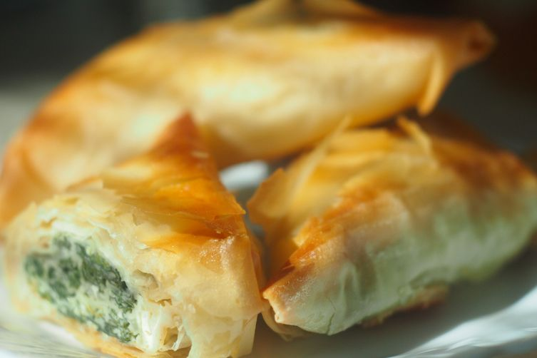 Kale Phyllo Triangles