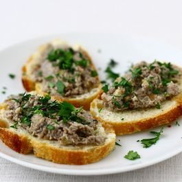 Mushroom and Chestnut Pate with Goat Cheese