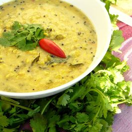 Goan Dal (Indian style Yellow Pigeon Pea stew with coconut and black kokum)