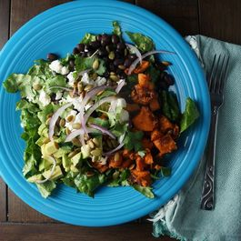 Avocado, Black Bean & Sweet Potato Chopped Salad