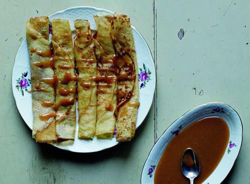 Crêpes with Salted-Butter Caramel