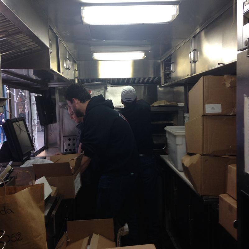 Inside the cookie truck.
