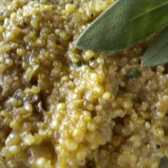 """Quinoa """"Risotto"""" with Walnuts, Sage and Porcini"""